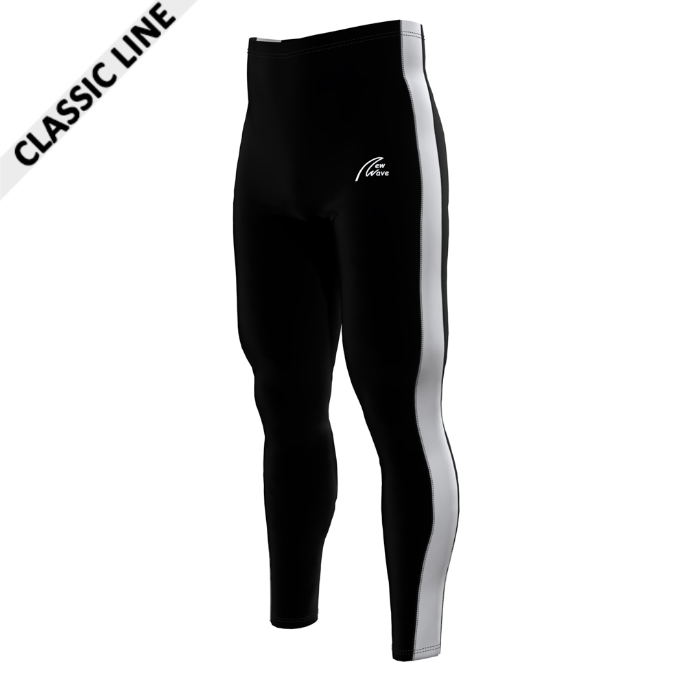 Rowing Sport Leggings - Black; Pants black / Sidestripe white