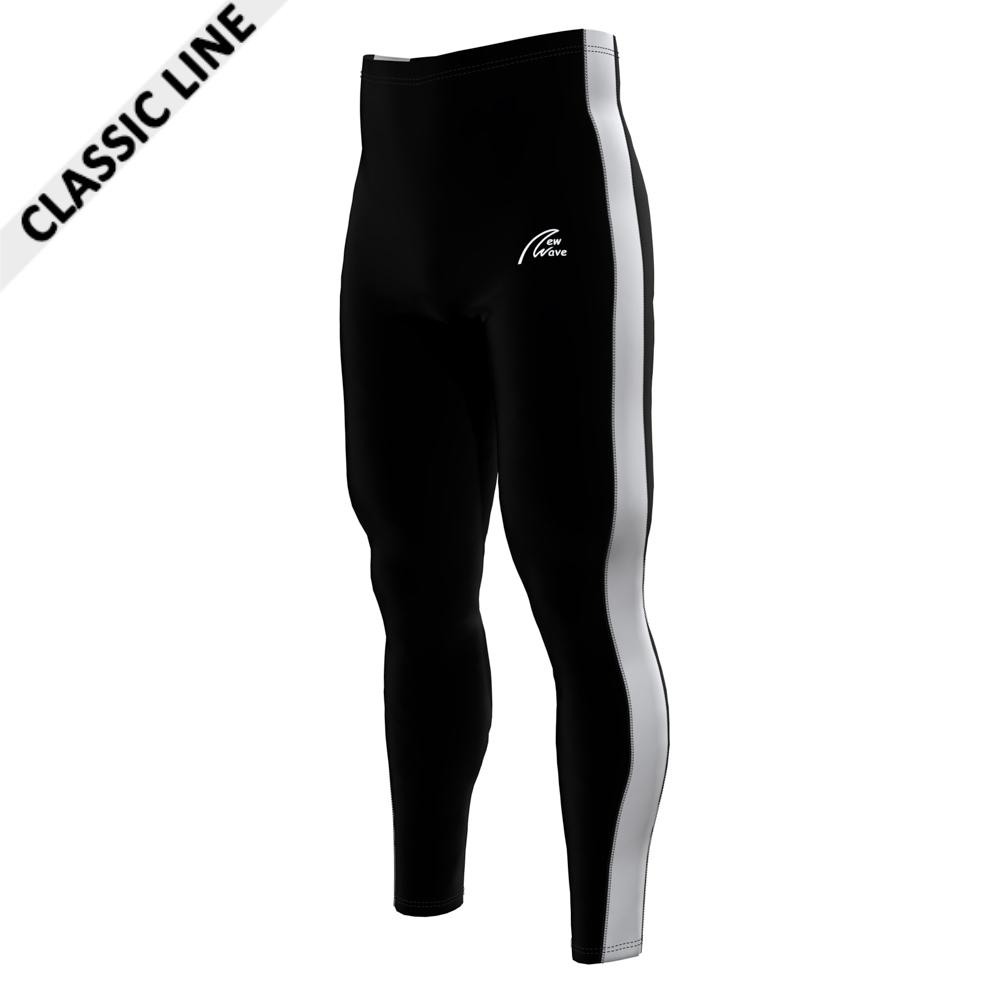 Rowing Sport Leggings - Black; Hose schwarz / Seitenstreifen weiß