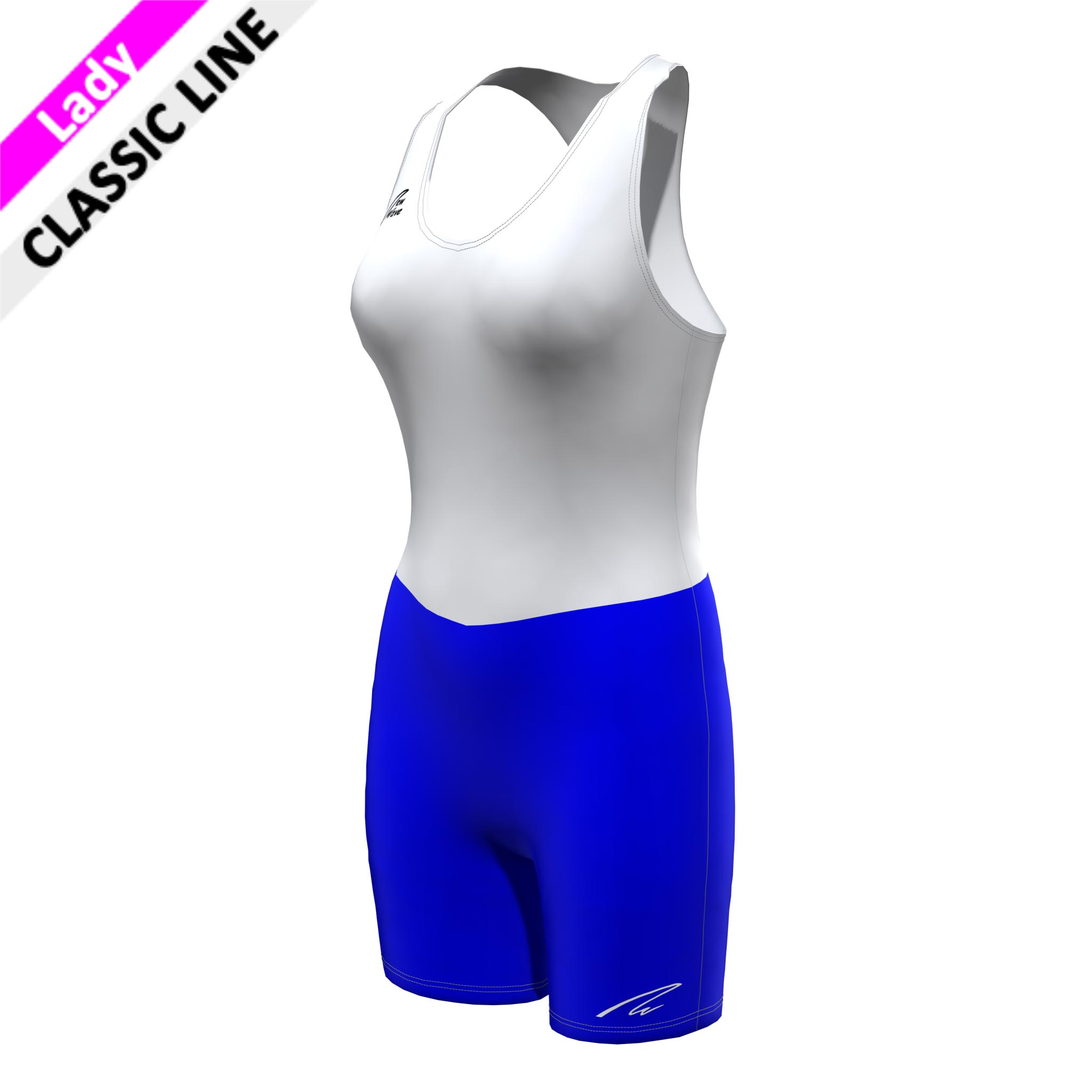 Classic Banyoles Suit Racerback; Hose royal; Body weiß