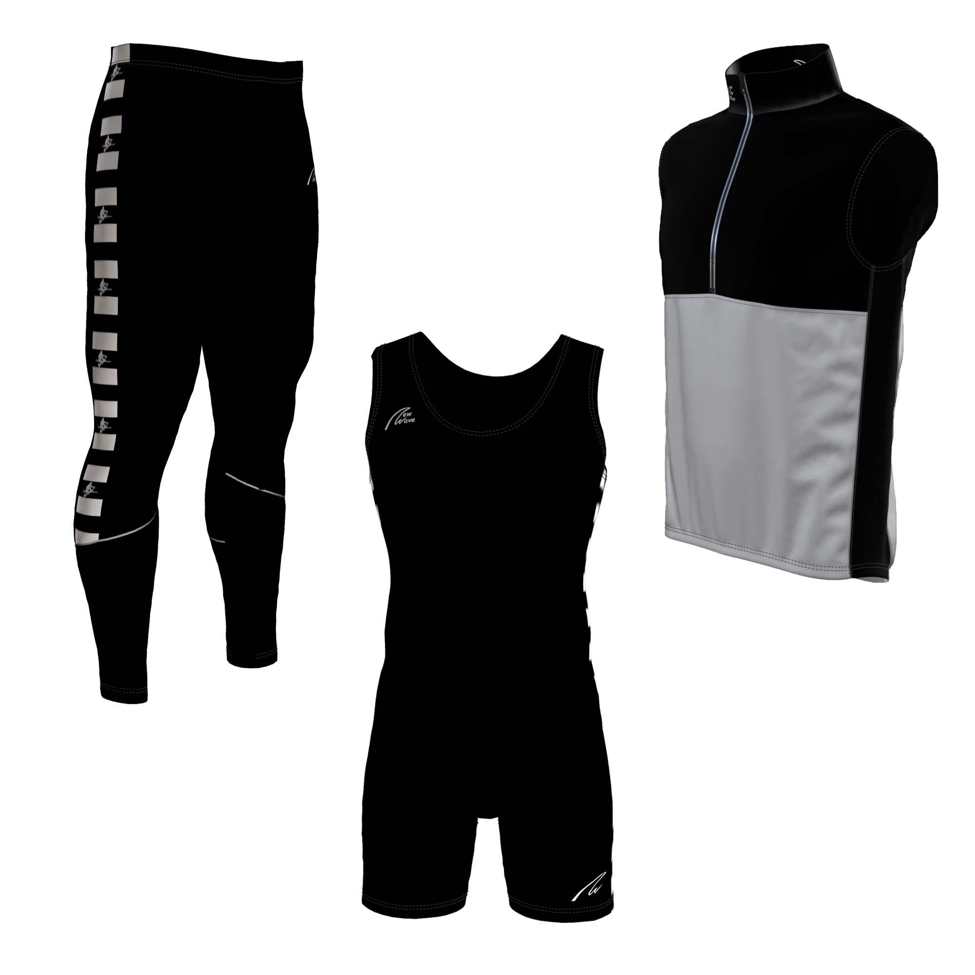 Starterset black Man - Classic Suit, Classic Tight, Davos Vest