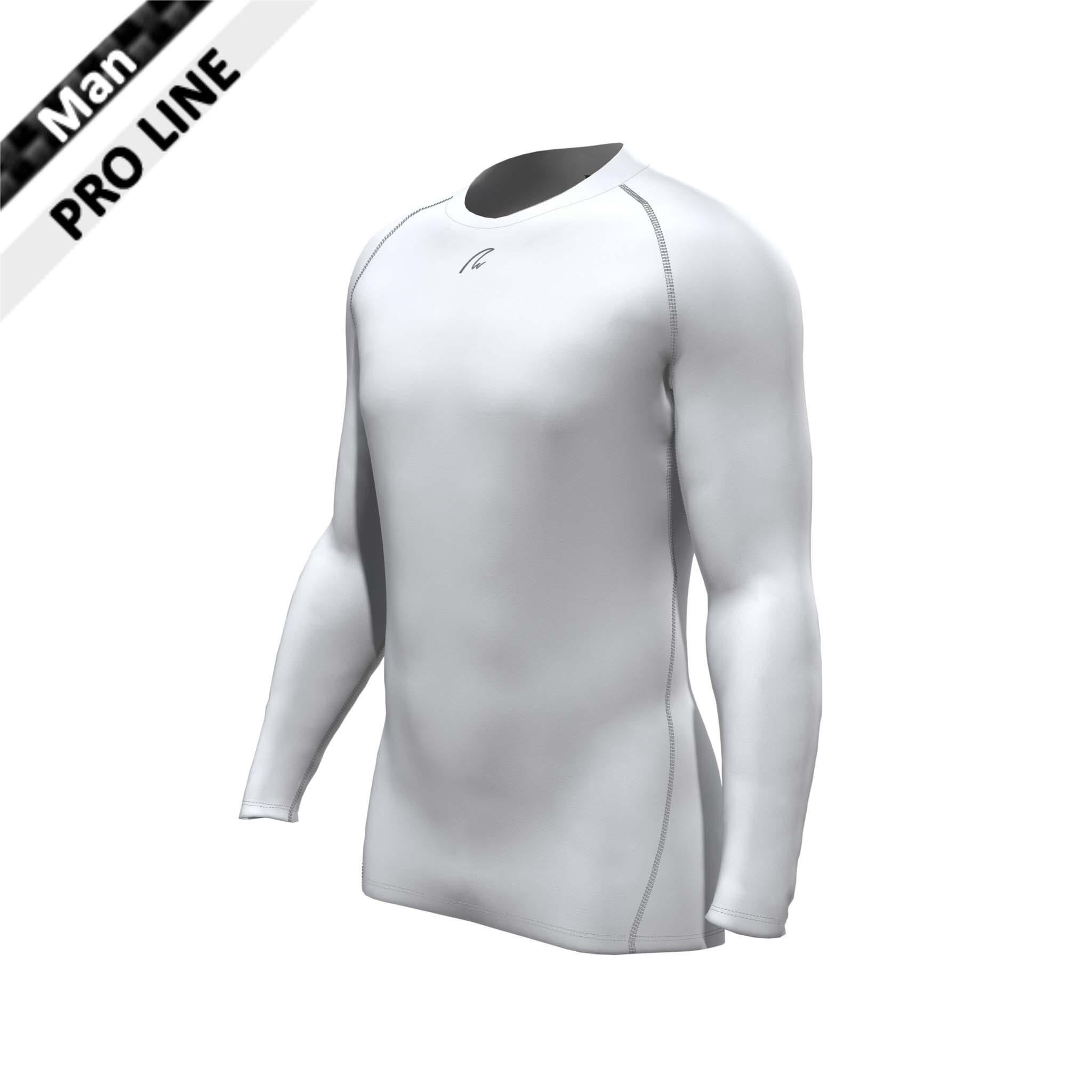 Pro Shirt langarm Man, graue Naht