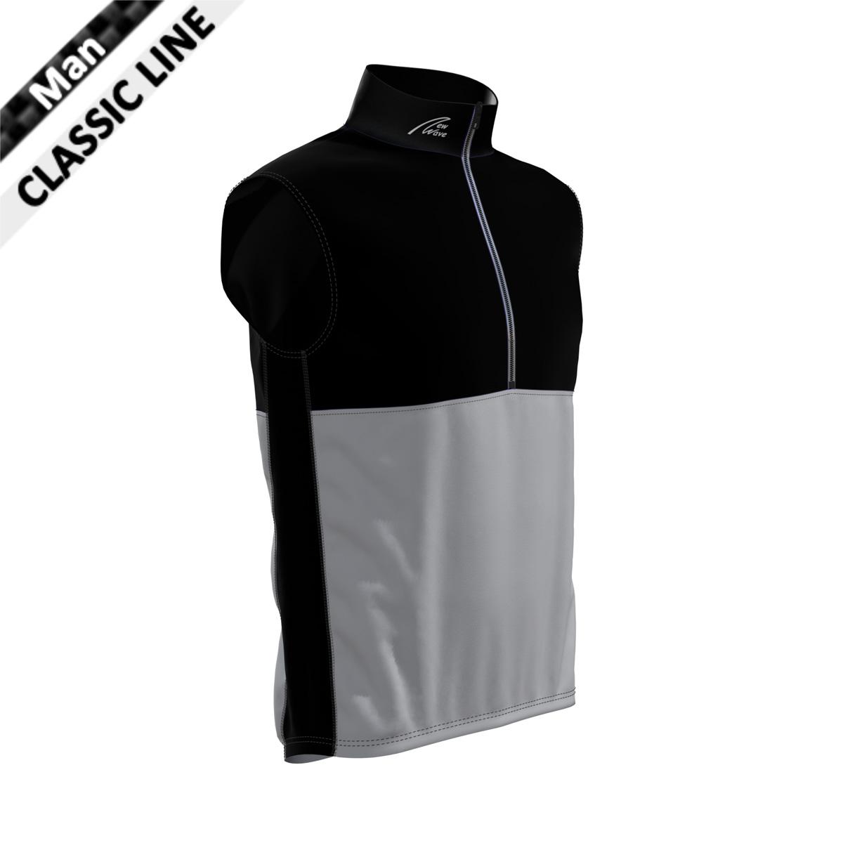 Davos Vest - Man schwarz/grau