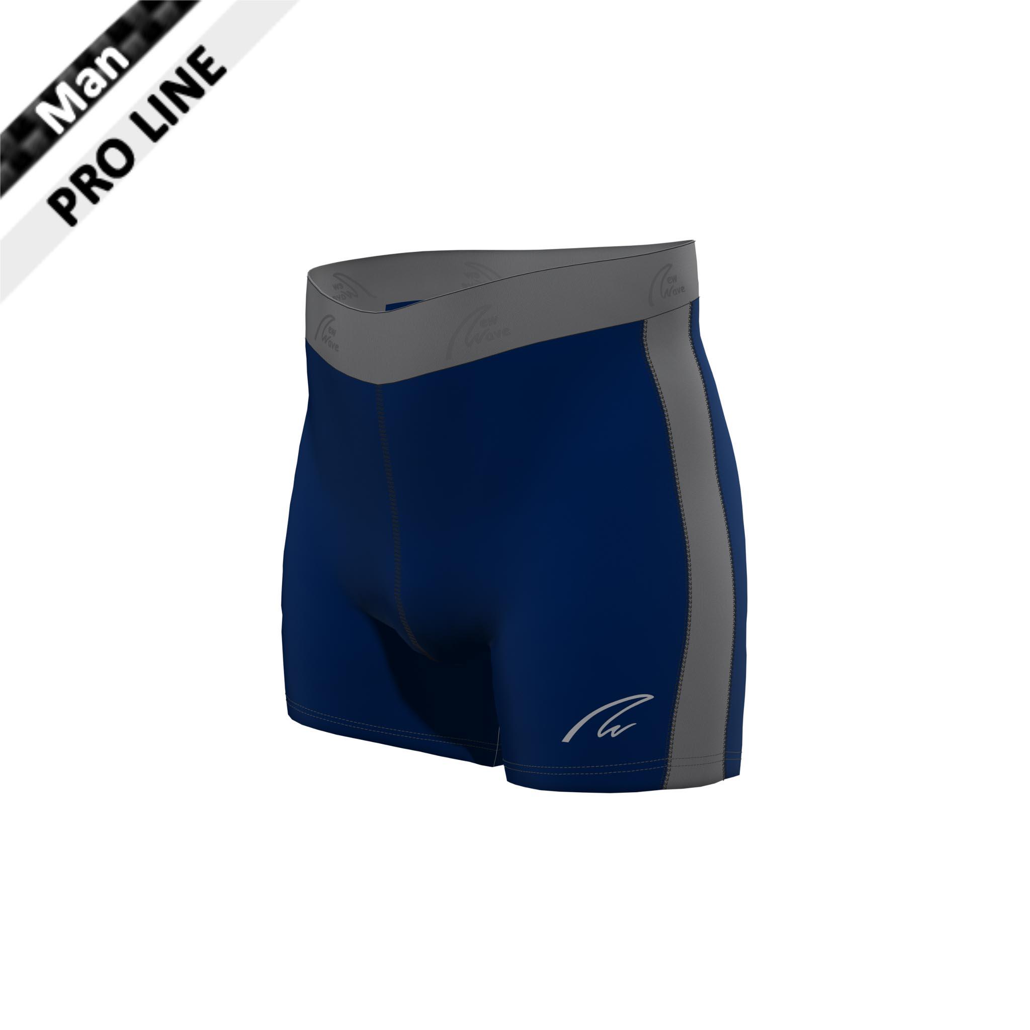 Flex Shorts - Navy & Grey / Hose marine, Seitenstreifen grau