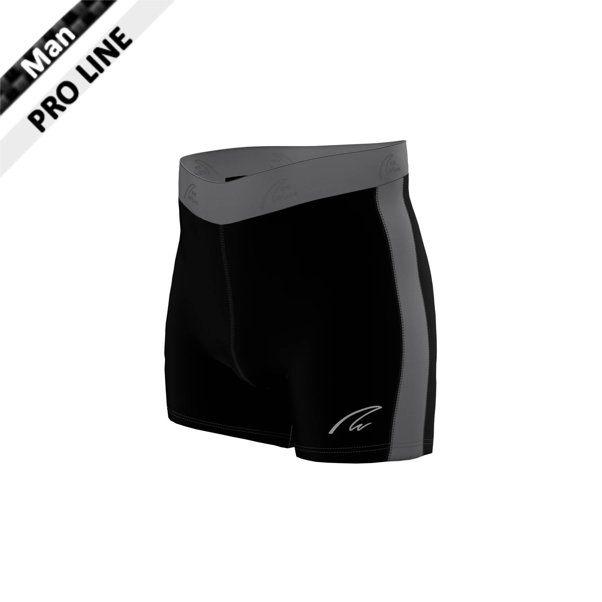 Flex Shorts - Black & Grey / Hose schwarz; Seitenstreifen grau