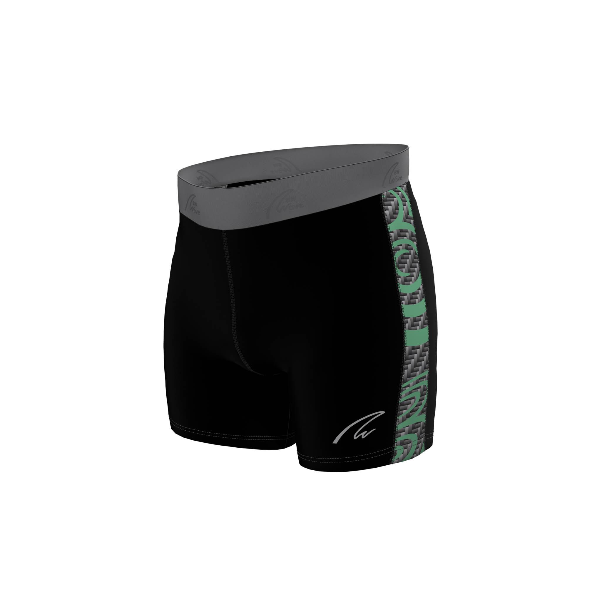 Flex Shorts - D8 Design / Hose schwarz; Seitenstreifen Deutschlandachter Design