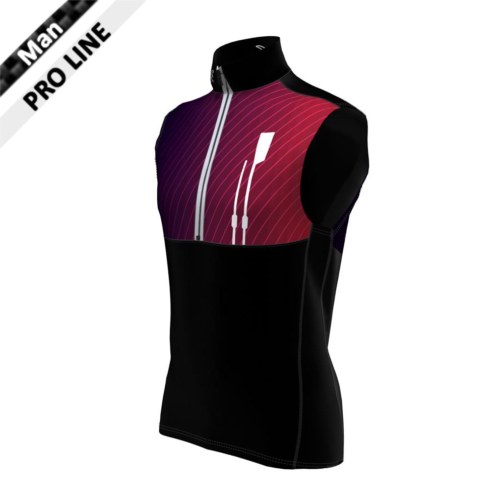 Pro Vest Man - 2020LE / Body unten, Seitenstreifen, Kragen, Schulter - schwarz / Body oben - Sublimation